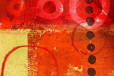Tangerines Painting - Circle Movement by Nancy Merkle