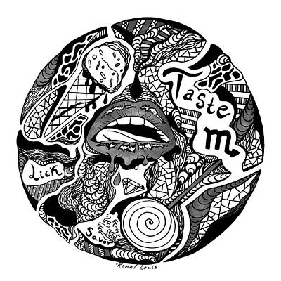 Drawing - Circle Of Taste by Kenal Louis