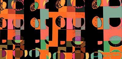 Teosanta Mixed Media - Circle Study Number 75 by Teodoro De La Santa