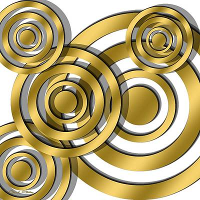 Hand Crafted Digital Art - Circles - Chuck Staley Design by Chuck Staley