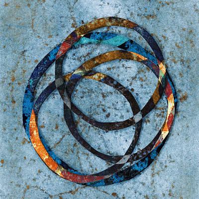 Circles Digital Art - Circles Within by Carol Leigh