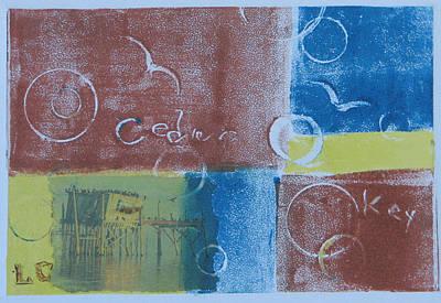 Printmaking Mixed Media - Circling The Key by Libby  Cagle