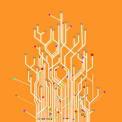Information Photograph - Circuit Board Graphic by Setsiri Silapasuwanchai