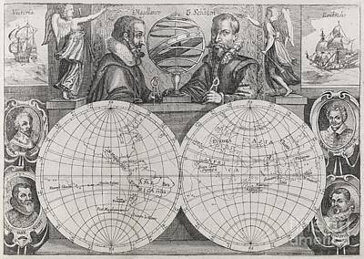Circumnavigators, 16th-17th Century Print by Middle Temple Library