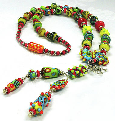 Lampwork Jewelry - Circus by Barbara Berney