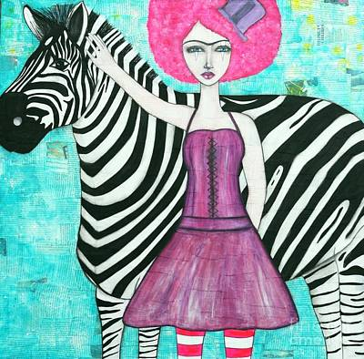 Painting - Circus Girl by Natalie Briney