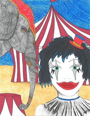 Limelight Drawing - Circus Life by Sherie Balko-Nation