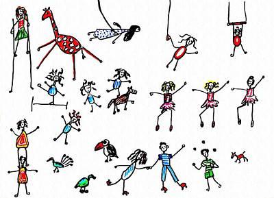 Toucan Drawing - Circus by Sarah Loft