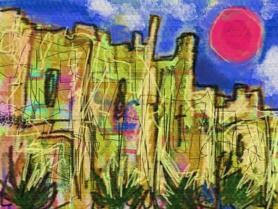 River Jordan Drawing - Citadel De Raymond  by Paul Sutcliffe
