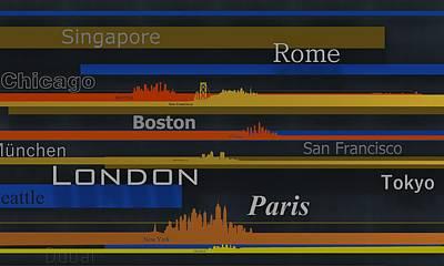Paris Digital Art - Cities 6 by Alberto RuiZ