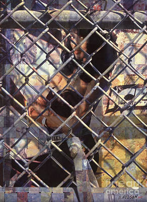 cities ghetto girl photography - Mona Lisa Print by Sharon Hudson