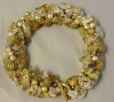 Wire Wrap Jewelry Jewelry - Citrine, Honey Tigers Eye Bracelet by Karen Matthews