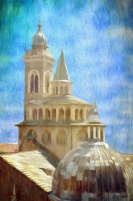 Roofs Painting - Citta Alta From Above by Jeff Kolker