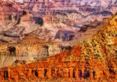 City - Arizona - Grand Canyon - Kabob Trail Print by Mike Savad