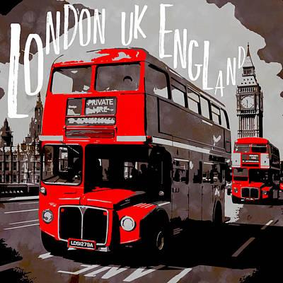 City-art London Westminster Print by Melanie Viola