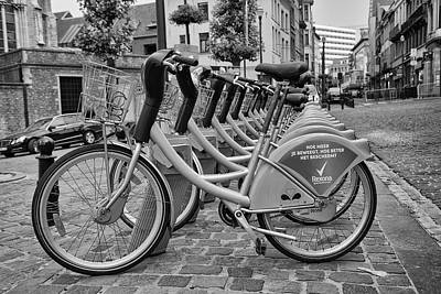 Bruxelles Photograph - City Bicycles by Georgia Fowler