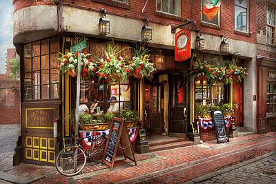 City - Boston Ma - The Green Dragon Tavern Print by Mike Savad