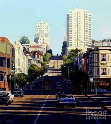 Ford Mustang Painting - City By The Bay by Frank Dalton