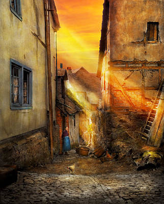 City - Germany - Alley - The Farmers Wife 1904 Print by Mike Savad