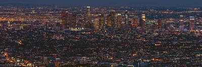 Los Angeles Skyline Photograph - City Lights by Aron Kearney