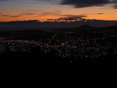 Photograph - City Lights From Signal Hill by Terry Perham