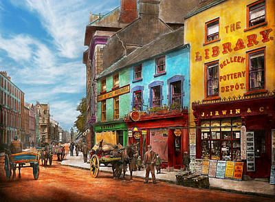 City - Newry Ireland - The Charm Of A City 1902 Print by Mike Savad