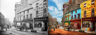 City - Newry Ireland - The Charm Of A City 1902 - Side By Side Print by Mike Savad