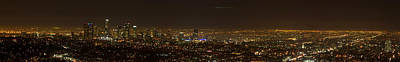 City Of Angels Panorama Print by Brad Scott