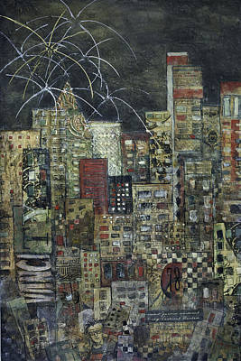 Vancouver Mixed Media - City Of Light by Barb Pearson