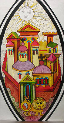 Racei Glass Art - City Of The Leon. Preliminary Experience For The First Glass. 2010 by Yuri Yudaev