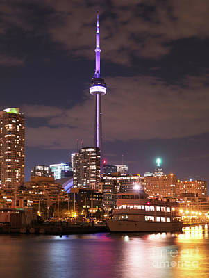 City Of Toronto At Night Print by Oleksiy Maksymenko