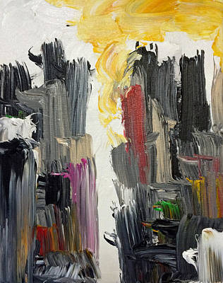 Painting - City Scape Vii by Mac Worthington