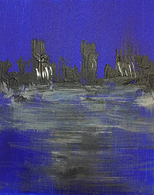 Painting - City Scape Viii by Mac Worthington