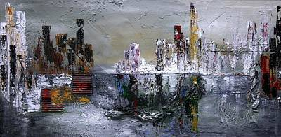 Las Vegas Artist Painting - City Shimmers by Vital Germaine