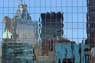 Abstract Photograph - City Skyline Reflection In Glass Highrise by Reimar Gaertner