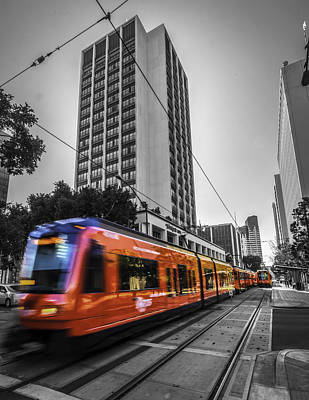 City Train Print by Phil Fitzgerald