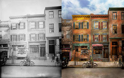 City -  Washington Dc  - Ghosts Of The Past 1925 - Side By Side Print by Mike Savad