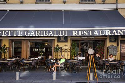 Civette Garibaldi Restaurant In Nice Print by Elena Elisseeva