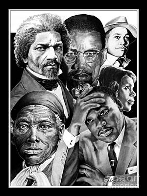 African-american Drawing - Civil Rights Collage by Elizabeth Scism