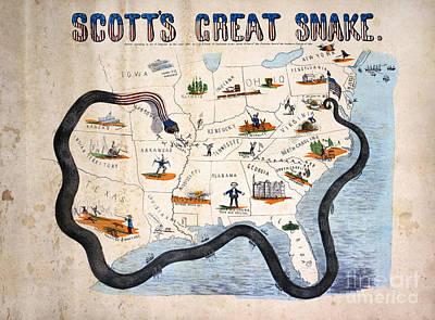 Civil War: Anaconda Plan Print by Granger