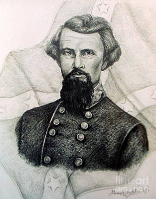 Solider Drawing - Civil War General by Georgia Doyle  brushhandle