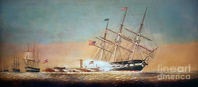U.s. Navy Painting - Civil War Merrimack 1862 by Granger