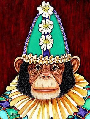 Mardi Gras Painting - Clancy by Sherry Dole