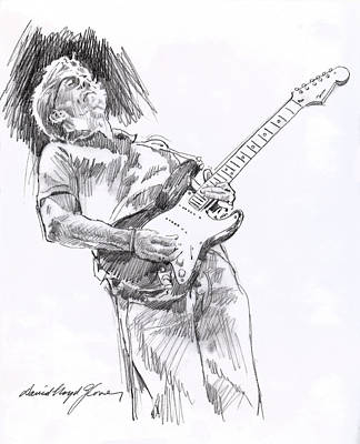 Fender Strat Painting - Clapron Blues Down by David Lloyd Glover