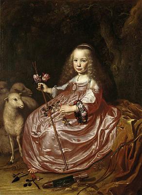 Dirck Van Santvoort Painting - Clara Alewijn Daughter Of Abraham Alewijn And Geertruid Hooftman by Dirck Dircksz van Santvoort