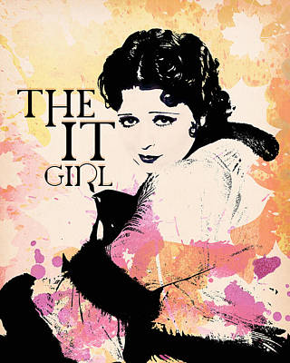 Digital Art - Clara Bow - The It Girl by Darlanne