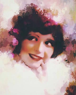 Digital Art - Clara Bow - The Portrait by Darlanne