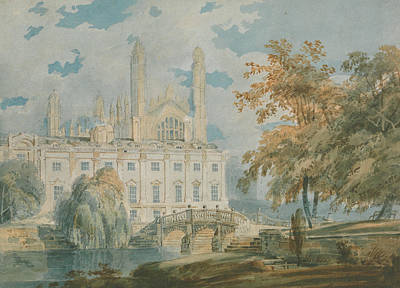 18th Century Painting - Clare Hall And Kings College Chapel, Cambridge  by Joseph Mallord William Turner