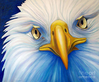 Eagle Painting - Clarity by Brian  Commerford