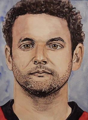 National Hockey League Painting - Clarke Macarthur by Betty-Anne McDonald